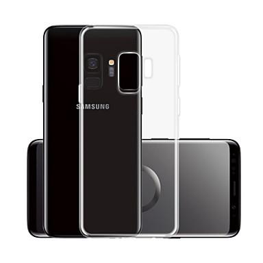 voordelige Galaxy S-serie hoesjes / covers-hoesje Voor Samsung Galaxy S9 Transparant Achterkant Effen Zacht TPU