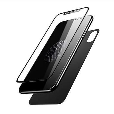 Недорогие Защитные плёнки для экрана iPhone-AppleScreen ProtectoriPhone X HD Защитная пленка для экрана и задней панели 2 штs Закаленное стекло