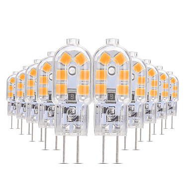 YWXLIGHT® 10pcs 3W 200-300lm G4 LED Bi-pin 조명 T 12 LED 비즈 SMD 2835 따뜻한 화이트 / 차가운 화이트 / 내추럴 화이트 12V