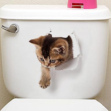 Jääkaappitarrat Vessatarrat - Animal Wall Tarrat Eläimet 3D Olohuone Makuuhuone Kylpyhuone Keittiö Ruokailuhuone Työhuone / toimisto