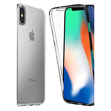 voordelige iPhone 7 hoesjes-hoesje Voor Apple iPhone XS / iPhone XR / iPhone XS Max Schokbestendig / Transparant Volledig hoesje Effen Zacht TPU
