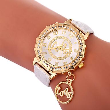 Xu™ نسائي ساعة فستان ساعة المعصم كوارتز جلد اصطناعي أسود / الأبيض / أزرق إبداعي ساعة كاجوال محبوب مماثل سيدات موضة ساعة عالمية - أخضر أزرق ذهبي سنة واحدة عمر البطارية / تقليد الماس / طرد كبير