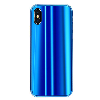X Per Custodia sfumato iPhone Colore retro e per iPhone 8 graduale Apple A 06720956 specchio temperato iPhone Placcato X Vetro Resistente Per ttwqAzg