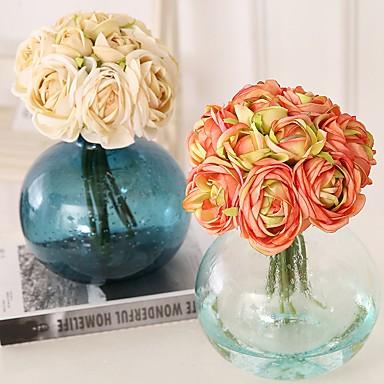 زهور اصطناعية 10 فرع كلاسيكي فردي أسلوب بسيط الحديث لوتس صفير الزهور الخالدة أزهار الطاولة