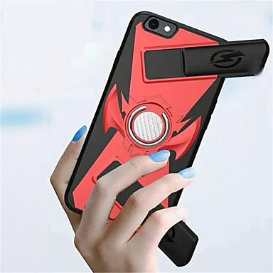voordelige iPhone 6 Plus hoesjes-hoesje Voor Apple iPhone X / iPhone 8 Plus / iPhone 8 Ringhouder / Game zaak Achterkant Effen Hard PC