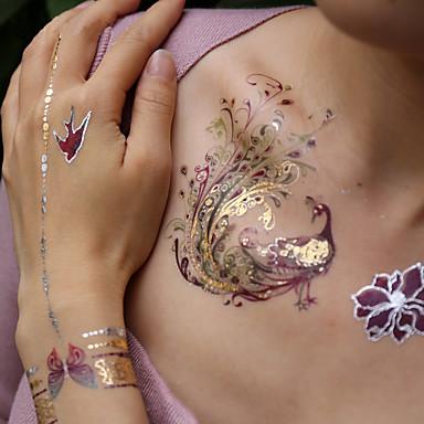 3 pcs ملصقات الوشم الوشم المؤقت سلسلة الحيوانات / سلسلة رومانسية الفنون الجسم ذراع