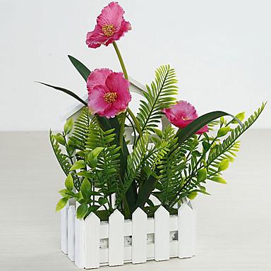 Künstliche Blumen 1 Ast Klassisch Stilvoll Rustikal Orchideen Wand-Blumen