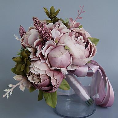 Künstliche Blumen 1 Ast Klassisch Einzelbett(150 x 200 cm) Hochzeit Pfingstrosen Tisch-Blumen