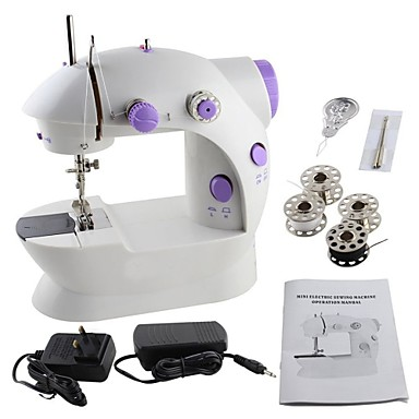 cheap 50% OFF & Up-Easy Sewing Machine,Mini Electric Household Sewing Machine Lightweight for handmade with Light Foot Pedal