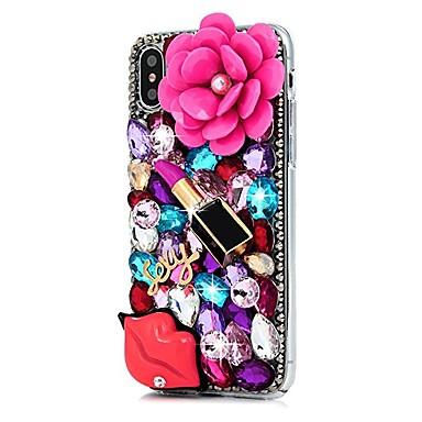 iPhone Apple Custodia per 8 8 iPhone X Con Plus iPhone decorativo retro Resistente X Per Per 8 06748364 iPhone iPhone Fiore diamantini PC 6ww5rEq