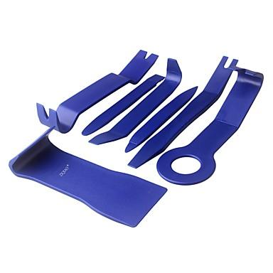 voordelige Reparatiegereedschap-Ziqiao 7 stks / set trim removal tool auto panel deur audio trim removal tool kit auto clip tangen fastener remover peutergereedschap set