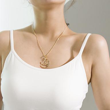 نسائي قلائد الحلي واحد ستراند سيدات شائع موضة أنيق سبيكة ذهبي فضي 45 cm قلادة مجوهرات 1PC من أجل هدية مناسب للبس اليومي