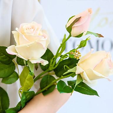 زهور اصطناعية 1 فرع كلاسيكي الحديث المعاصر الورود أزهار الأرض