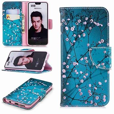 غطاء من أجل Huawei Honor 8 / Honor 7X / Huawei Honor 7C(Enjoy 8) محفظة / حامل البطاقات / مع حامل غطاء كامل للجسم زهور قاسي جلد PU