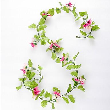 زهور اصطناعية 1 فرع كلاسيكي زهري عباد الشمس أزهار الحائط