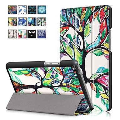 غطاء من أجل Huawei Huawei MediaPad T3 8.0 مع حامل / مغناطيس غطاء كامل للجسم رسم زيتي قاسي جلد PU