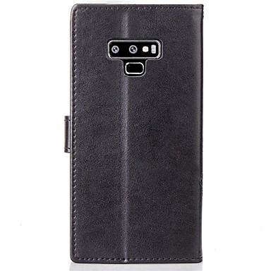 Недорогие Чехлы и кейсы для Galaxy Note 4-Кейс для Назначение SSamsung Galaxy Note 5 / Note 4 / Note 3 Кошелек / Бумажник для карт / со стендом Чехол Мандала / Бабочка Твердый Кожа PU