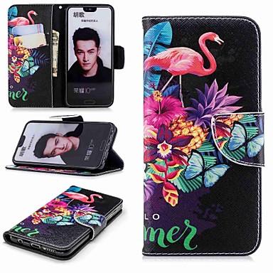 غطاء من أجل Huawei Huawei Honor 10 / Honor 7X / Huawei Honor 7C(Enjoy 8) محفظة / حامل البطاقات / مع حامل غطاء كامل للجسم البشروس طائر مائي قاسي جلد PU