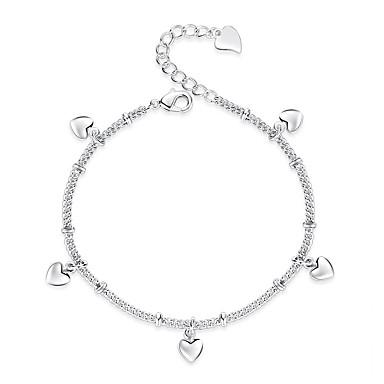 preiswerte Körperschmuck-Damen Stilvoll Fusskettchen Herz damas nette Art Fusskettchen Schmuck Silber Für Geschenk Alltag