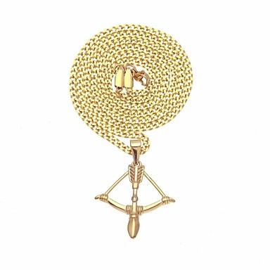 رجالي كلاسيكي ستايل قلائد الحلي ستانلس ستيل أنيق شائع هيب هوب كوول ذهبي 63.7 cm قلادة مجوهرات 1PC من أجل هدية مناسب للبس اليومي