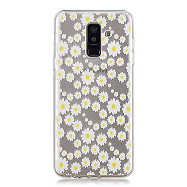 غطاء من أجل Samsung Galaxy A6 (2018) / A6+ (2018) / A3 (2017) شفاف / نموذج غطاء خلفي زهور ناعم TPU
