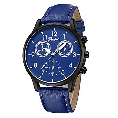 Geneva نسائي ساعة المعصم كوارتز جلد أسود / أزرق / بني تصميم جديد ساعة كاجوال كوول مماثل كاجوال موضة - أزرق داكن بني ذهبي روزي سنة واحدة عمر البطارية