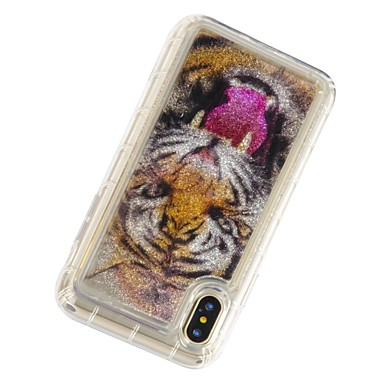 X iPhone 8 X 8 Custodia 8 Plus urti per iPhone agli Per 06826226 iPhone iPhone Resistente Liquido Morbido iPhone retro Transparente a TPU Per Apple Plus cascata Animali RRwFtq
