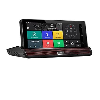 Factory OEM 1080p HD / ليلة الرؤية سائق سيارة 140 درجة زاوية واسعة 12 MP 7 بوصة IPS داش كام مع WIFI / GPS / ليلة الرؤية لا مسجل السيارة / الميكروفون الداخلي / حلقة دورة التسجيل