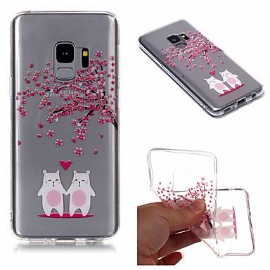 Недорогие Чехлы и кейсы для Galaxy S6 Edge-Кейс для Назначение SSamsung Galaxy S9 / S9 Plus / S8 Plus IMD / Прозрачный / С узором Кейс на заднюю панель Мультипликация / дерево / Цветы Мягкий ТПУ