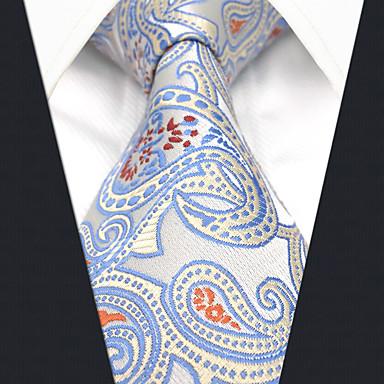 ربطة العنق الأزرق والأبيض ألوان متناوبة / زخرفات / خملة الجاكوارد رجالي حفلة / عمل
