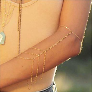 preiswerte Körperschmuck-Damen Körperschmuck 24 cm Arm Ketten Gold Geometrische Form damas / Einfach / Modisch Aleación Modeschmuck Für Strasse / Festtage Sommer
