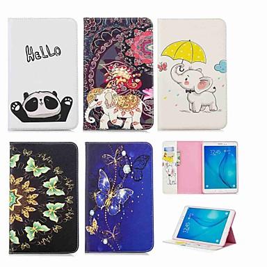 voordelige Samsung Tab-serie hoesjes / covers-hoesje Voor Samsung Galaxy Tab A 9.7 Portemonnee / Kaarthouder / met standaard Volledig hoesje Olifant Hard PU-nahka