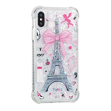 8 Custodia cascata iPhone Liquido Torre 8 X Plus a agli Per Eiffel 06802513 8 Morbido iPhone Transparente Apple iPhone X urti iPhone Plus iPhone retro per Per TPU Resistente wrgqr7vX