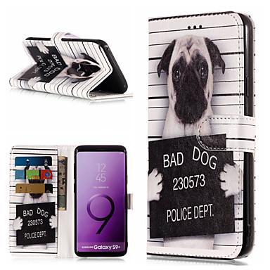voordelige Galaxy S-serie hoesjes / covers-hoesje Voor Samsung Galaxy S9 / S9 Plus / S8 Plus Portemonnee / Kaarthouder / met standaard Volledig hoesje Hond / Woord / tekst Hard PU-nahka