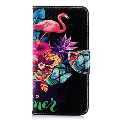 غطاء من أجل Samsung Galaxy A5(2018) / A6 (2018) / A6+ (2018) محفظة / حامل البطاقات / مع حامل غطاء كامل للجسم البشروس طائر مائي قاسي جلد PU