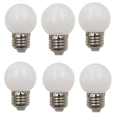 6PCS 2 W مصابيح كروية LED 80 lm E26 / E27 G45 8 الخرز LED SMD 2835 ديكور عيد الميلاد الديكور الزفاف أبيض دافئ أبيض كول 220-240 V / بنفايات