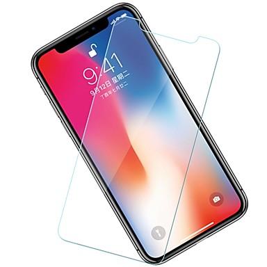 voordelige iPhone X screenprotectors-AppleScreen ProtectoriPhone X 9H-hardheid Voorkant screenprotector 10 stuks Gehard Glas