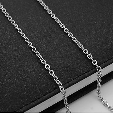 voordelige Heren Ketting-Heren Kettingen Enkele Draad Mariner Chain Europees Titanium Staal Zilver 55 cm Kettingen Sieraden 1pc Voor Dagelijks
