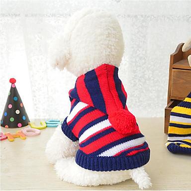 chiens chats pull v tements pour chien ray couleur pleine rayure fibres acryliques costume. Black Bedroom Furniture Sets. Home Design Ideas