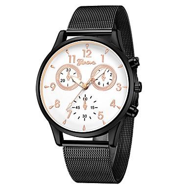 Geneva نسائي ساعة المعصم كوارتز أسود تصميم جديد ساعة كاجوال كوول مماثل سيدات كاجوال موضة - أزرق / أسود أسود / أبيض أسود / ذهبي روزي سنة واحدة عمر البطارية