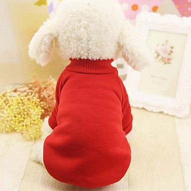 Dogs Cats Pets Coat Sweatshirt Dog Clothes Solid Colored Other Blue Pink Black Other Material Woolen Costume For Husky Labrador Alaskan Malamute All Seasons Female Sports & Outdoors Casual / Sporty
