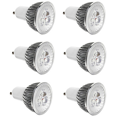 6kom 3 W 300 lm E14 / GU10 / GU5.3 LED reflektori 3 LED zrnca Visokonaponski LED Ukrasno Toplo bijelo / Hladno bijelo 85-265 V
