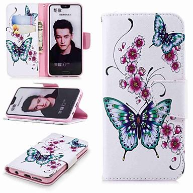 غطاء من أجل Huawei Honor 7X / Huawei Honor 7C(Enjoy 8) / Honor 6X محفظة / حامل البطاقات / مع حامل غطاء كامل للجسم فراشة قاسي جلد PU