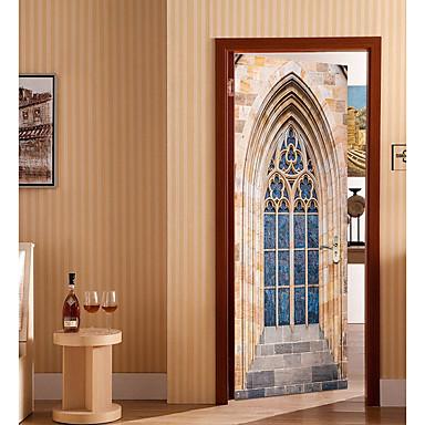 ملصقات الباب - لواصق تجريدي / أشكال غرفة الجلوس / غرفة النوم