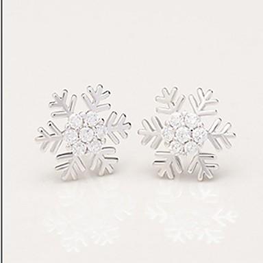 نسائي أقراط الزر كلاسيكي ستايل ثلج سيدات تقليد الماس الأقراط مجوهرات أبيض من أجل هدية مناسب للبس اليومي 1 زوج
