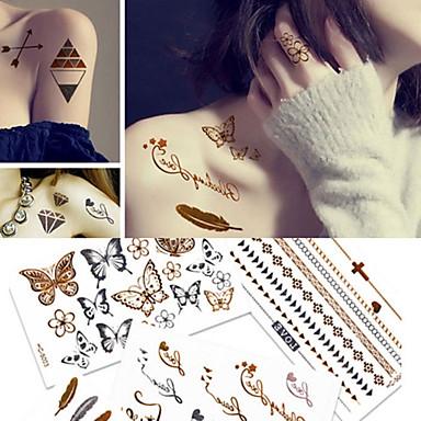 5 pcs ملصقات الوشم الوشم المؤقت موضوع بوهيمية / فراشة ديكور الفنون الجسم هيكل / ذراع / ملصق الوشم