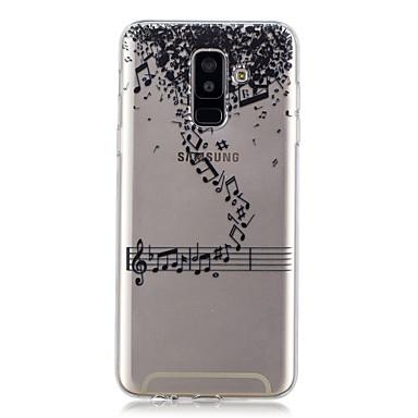 غطاء من أجل Samsung Galaxy A6 (2018) / A6+ (2018) / A3 (2017) شفاف / نموذج غطاء خلفي جملة / كلمة ناعم TPU