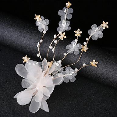 نسائي بسيط الكورية قماش كريستال مجوهرات الجبين مناسب للحفلات مراسم - ورد