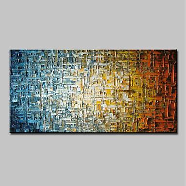 ราคาถูก Wall Art-ภาพวาดสีน้ำมันแขวนทาสี มือวาด - แอ็ปสแต็ก ที่ทันสมัย โดยไม่ต้องภายในกรอบ / ผ้าใบรีด