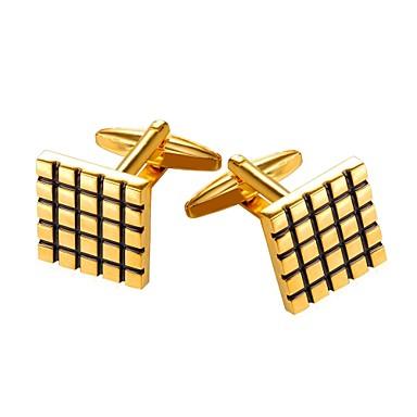أزرار أكمام رسمي بروش مجوهرات فضي ذهبي من أجل هدية مناسب للبس اليومي